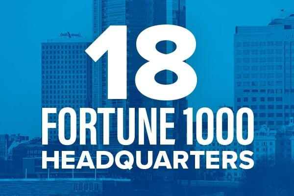 18 Fortune 1000 headquarters