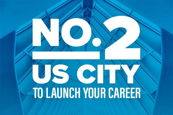 Number 2 US city to launch your career