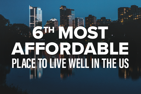 6th Most Affordable Place to Live Well in the US