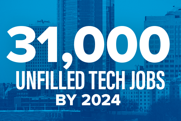 31,000 unfilled tech jobs by 2024